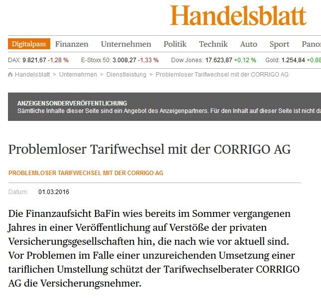 Presseartikel CORRIGO AG