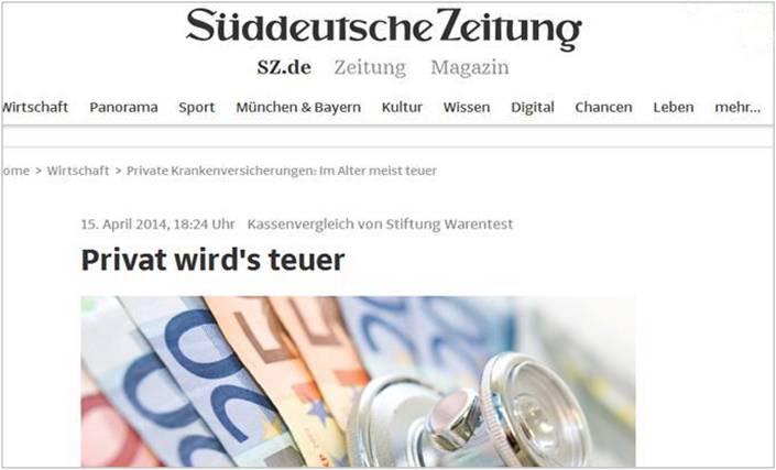 Bild Presse Artikel Süddeutsche Zeitung