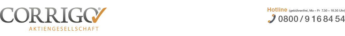 PKV Tarifwechsel mit der CORRIGO AG Logo